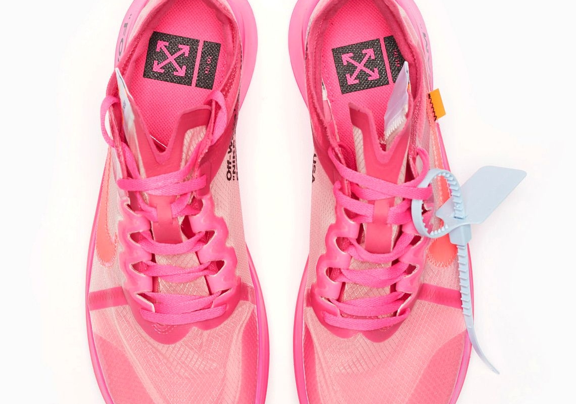 Где купить Off-White x Nike Zoom Fly SP «Tulip Pink»