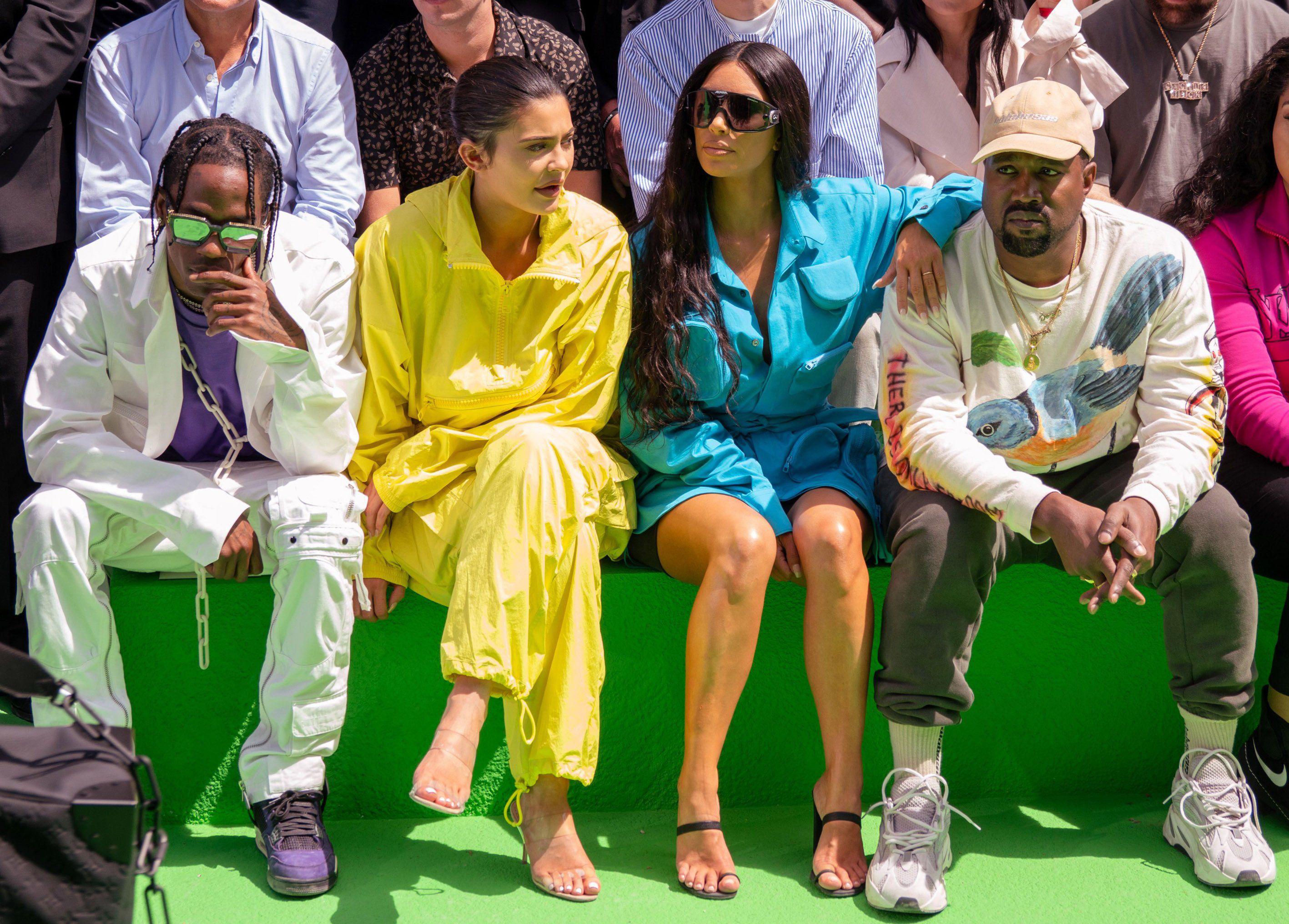 Трэвис Скотт, Кайли Дженнер, Ким Кардашьян и Канье Уэст в Париже в июле. Интервью Трэвиса Скотта для Rolling Stone