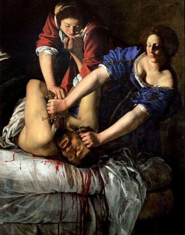 «Юдифь, обезглавливающая Олоферна»,около 1620 года.