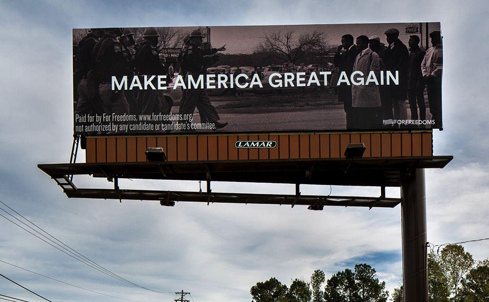 «Make America Great Again» со Спайдером Мартином в городе Перл, Миссисипи, 2016 год.