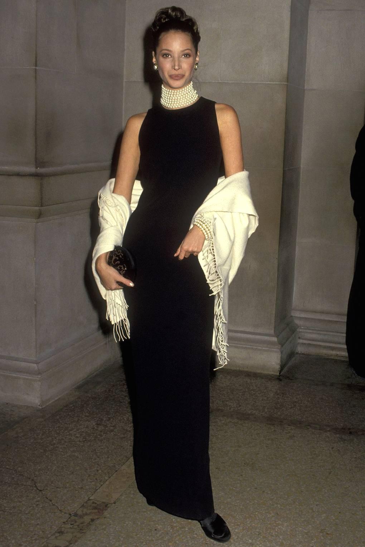 Кристи Терлингтон на Met Gala, 1992