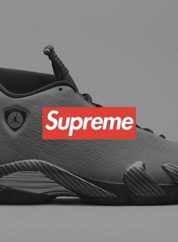 Supreme x Air Jordan 14 - коллаборация выйдет в двух расцветках