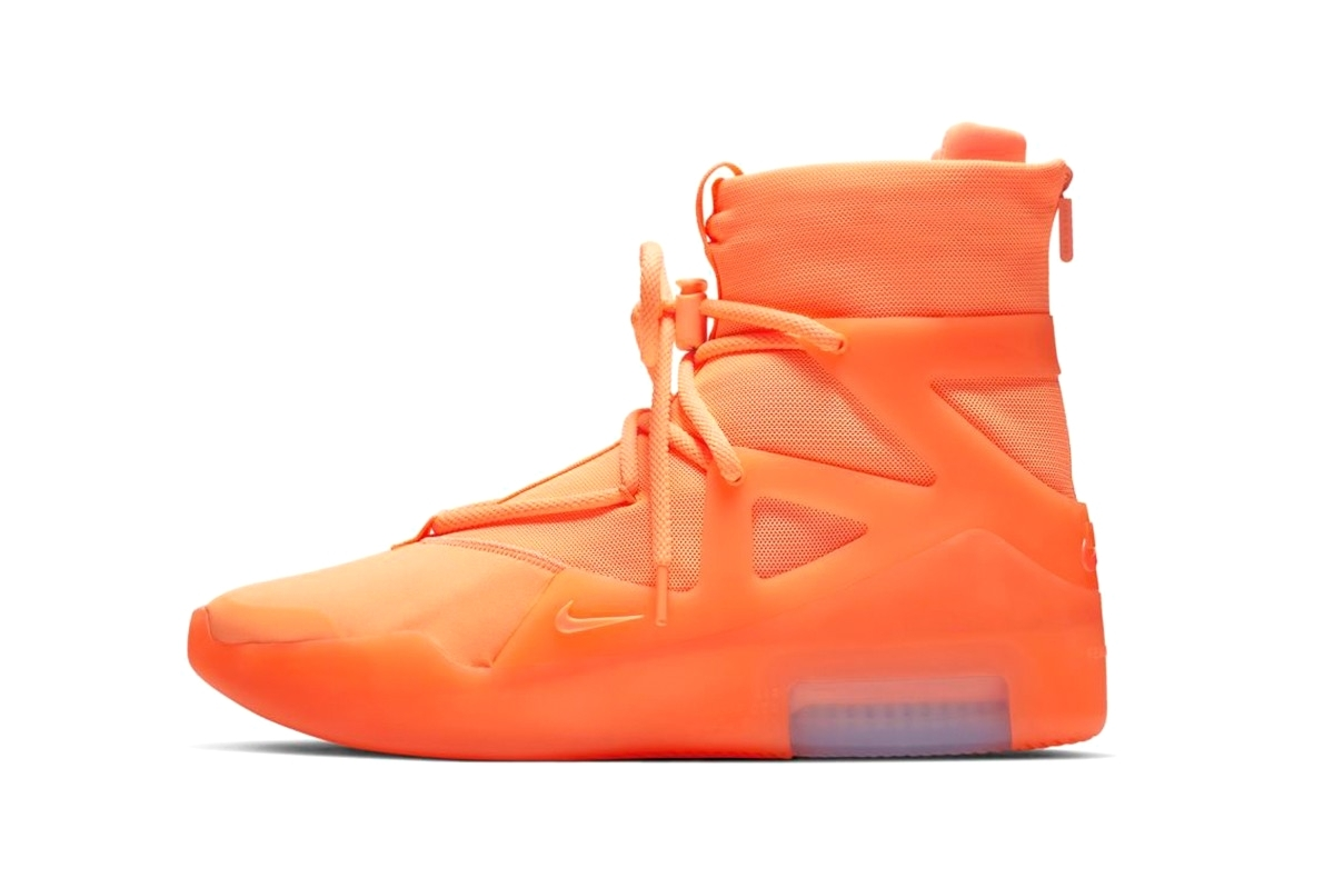 Все о релизе Nike Air Fear of God 1 «Frosted Spruce» и «Orange Pulse»