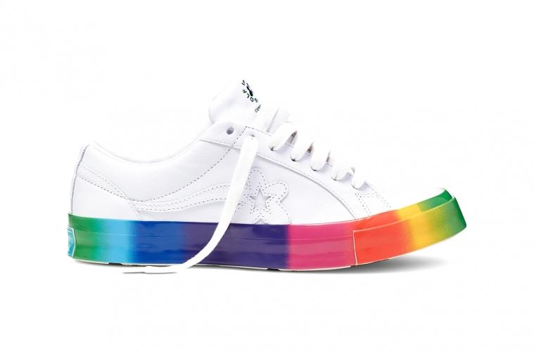 GOLF le FLEUR x Converse One Star «Rainbow» с