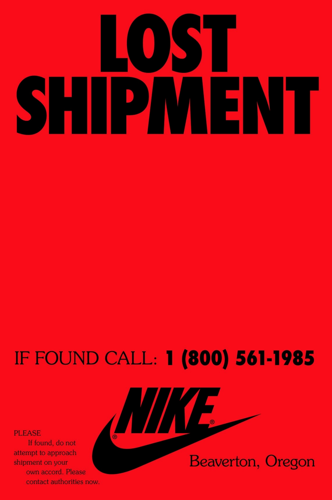 Nike «Lost Shipment»
