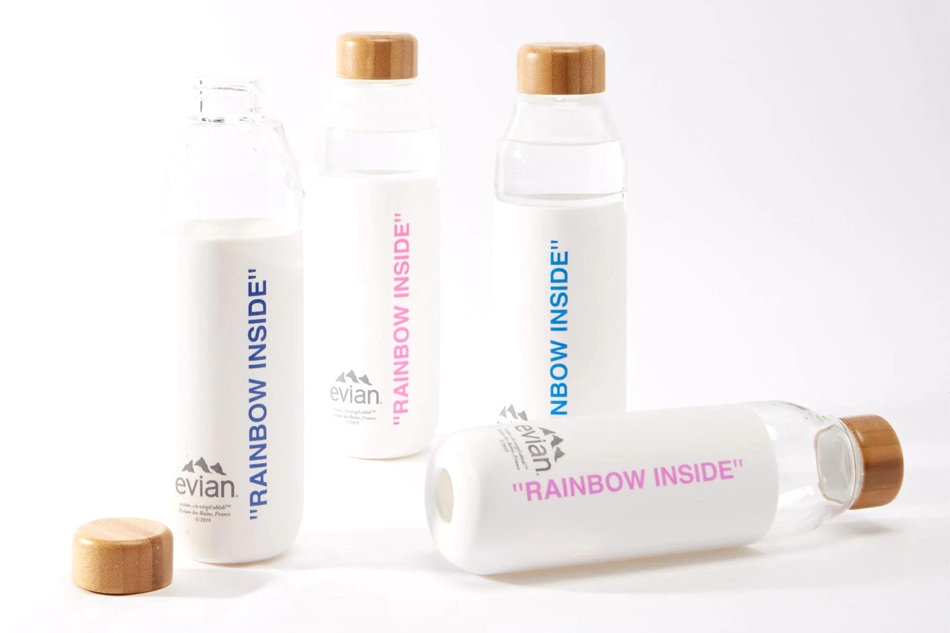 Многоразовые бутылки Evian by Virgil Abloh x SOMA