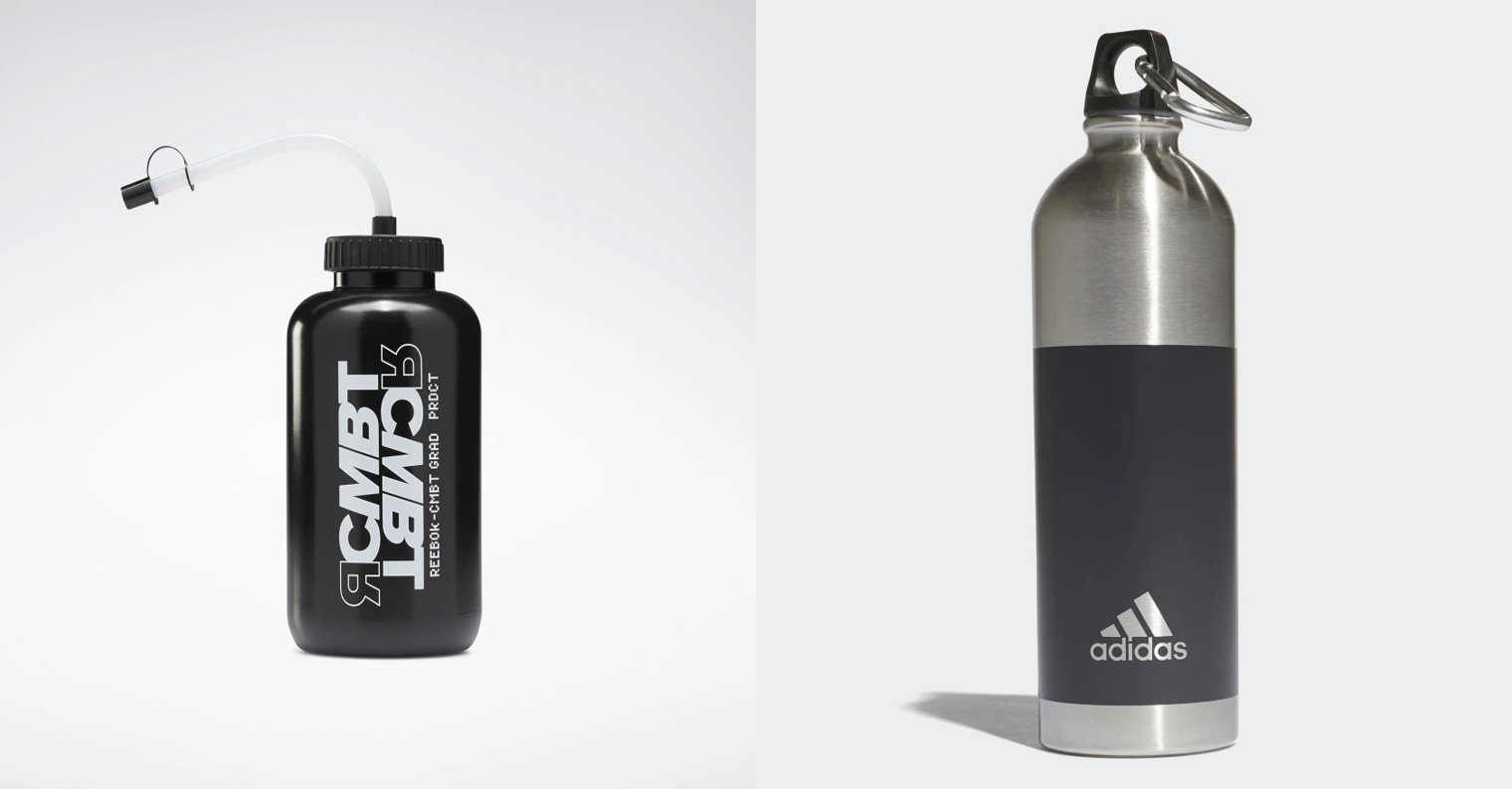 Многоразовые бутылки adidas и reebok