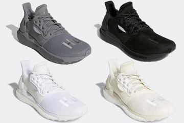 Pharrell x adidas SOLARHU Glide — новый релиз в нейтральных цветах