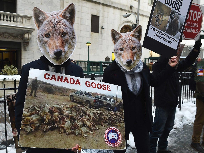 Протест против действий Canada Goose