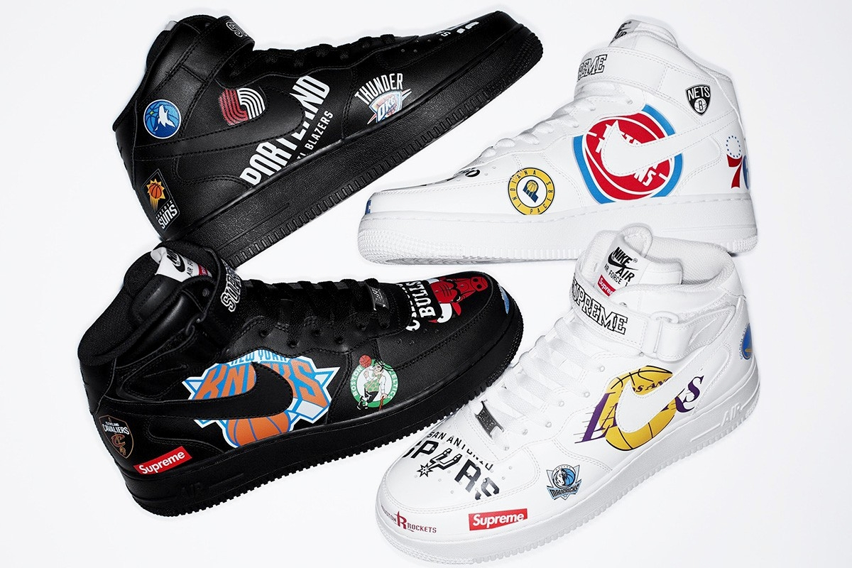 Nike Air Force 1 Mid Supreme/NBA