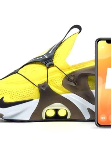 Желтые Nike Adapt Huarache