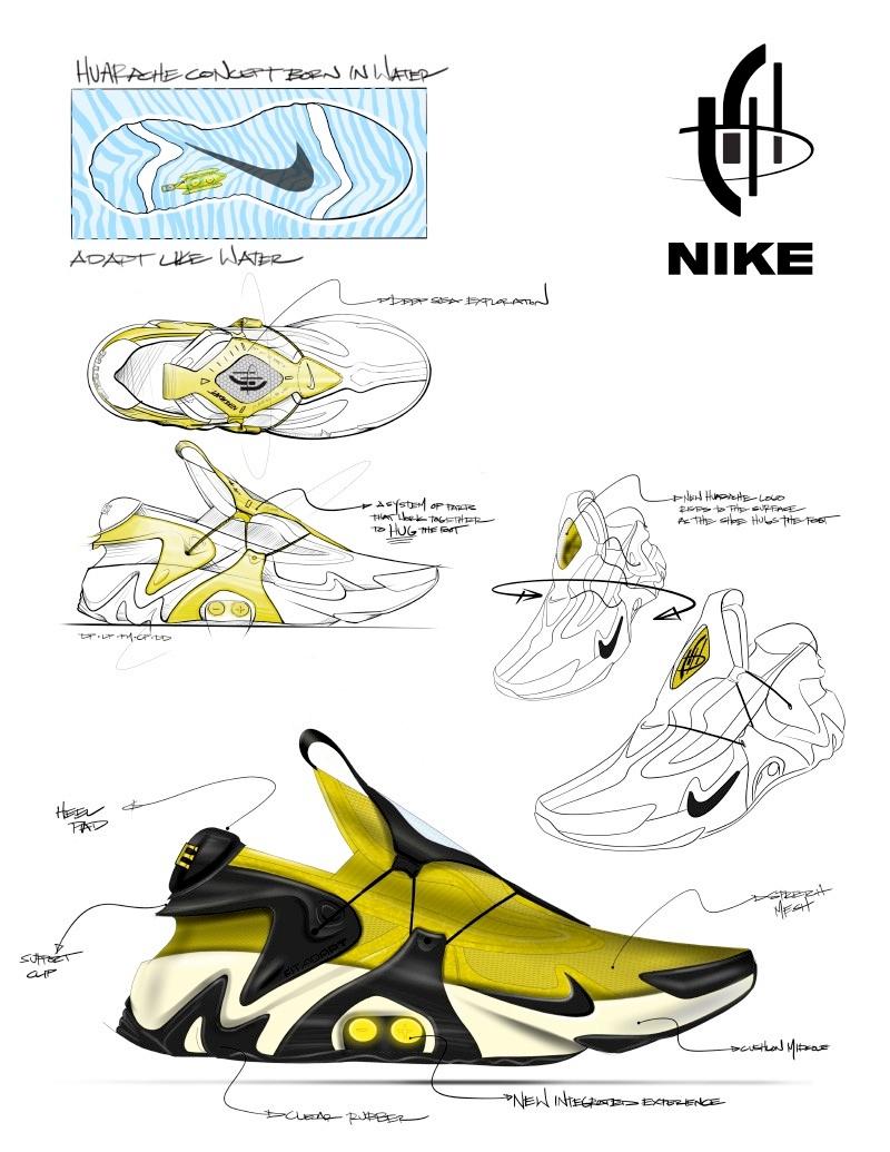Эскиз Nike Adapt Huarache