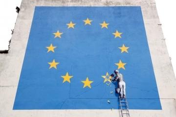 Знаменитое граффити Бэнкси о Брекзит уничтожено