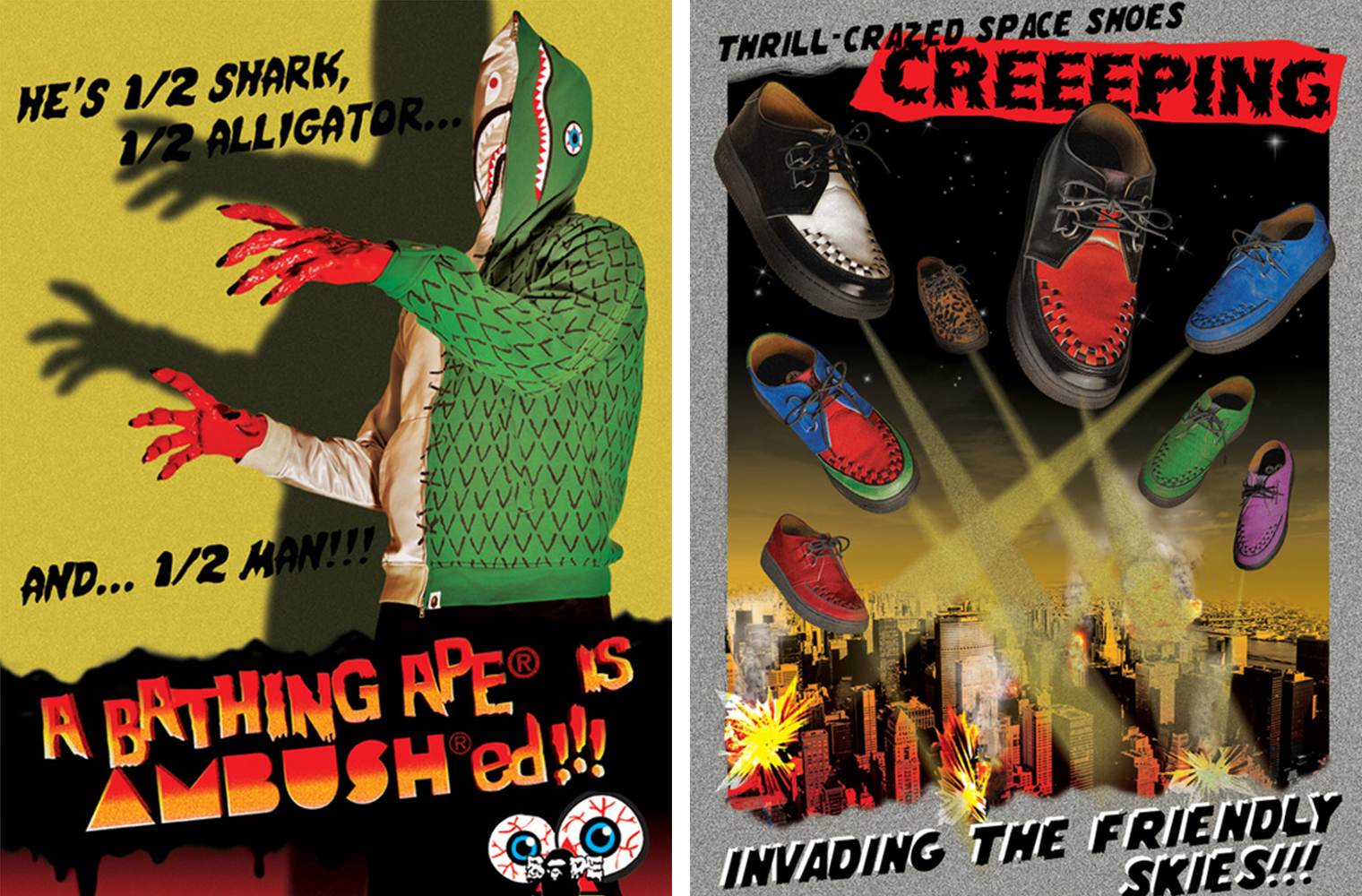 A BATHING APE x AMBUSH - рекламная кампания совместной коллекции 2009