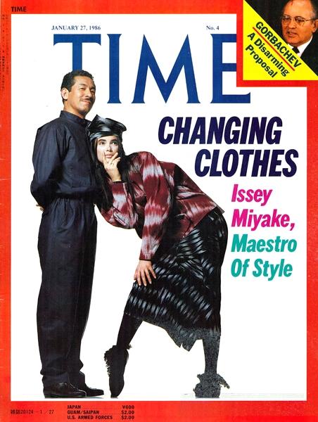 Иссей Мияке на обложке журнала Time, Январь 1986