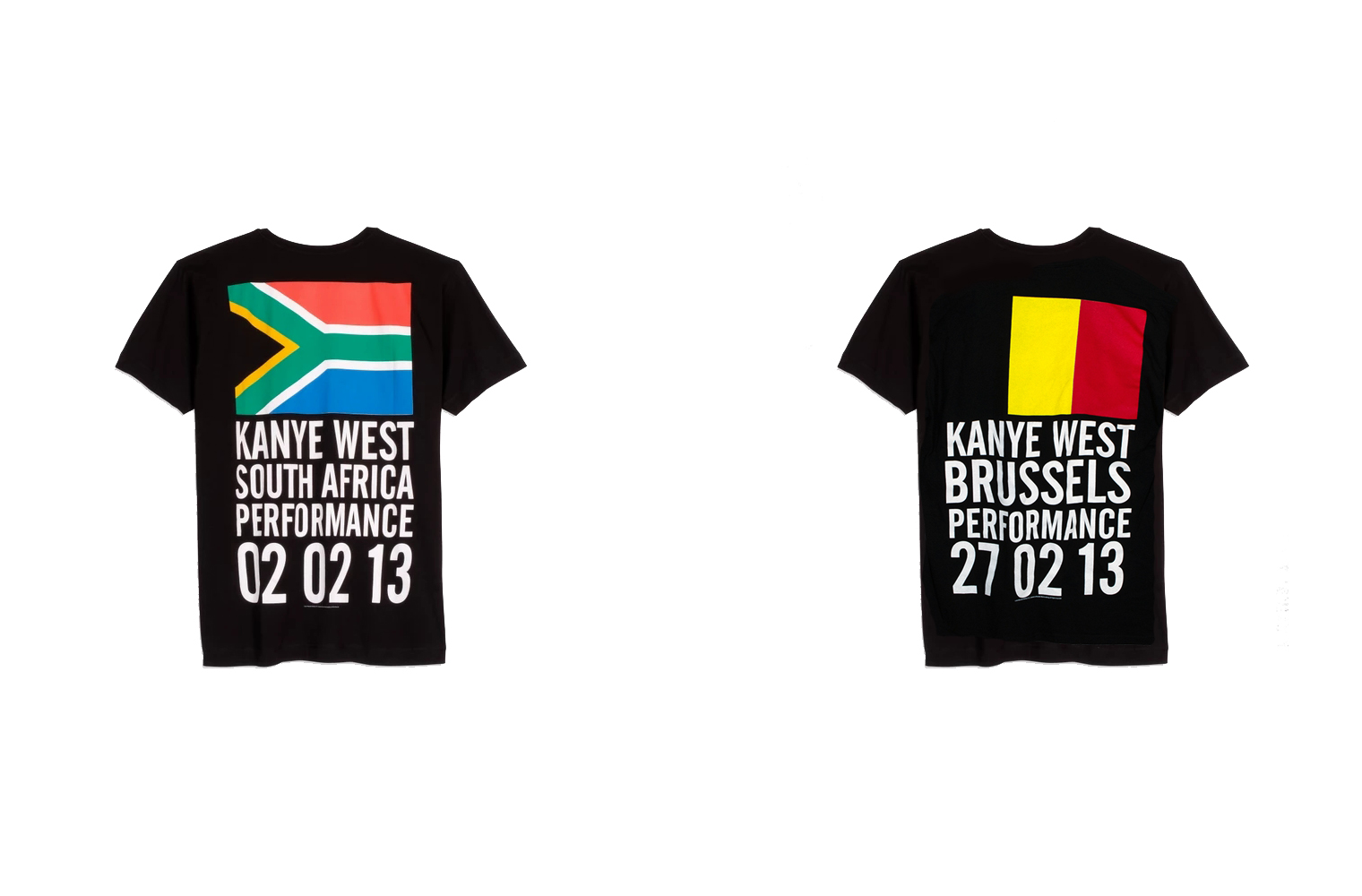 Канье Уэст - мерч к концертам в Африке и Европе 2013