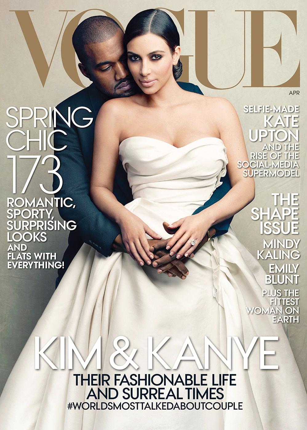 Ким Кардашьян и Канье Уэст на обложке Vogue, Апрель 2014