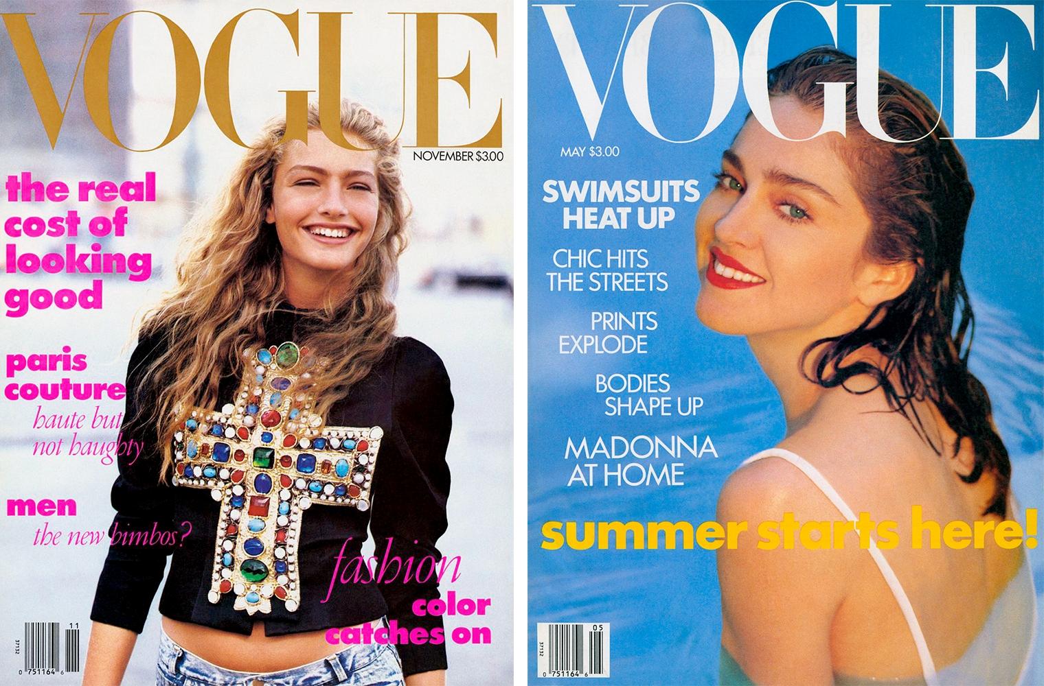 Первая обложка Анны Винтур для Vogue, Ноябрь 1988 / Мадонна на обложке Vogue, Май 1989