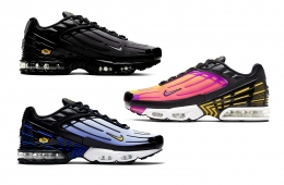 ВNike Air Max Plus 3 «Hyper Blue», «Wolf Grey» и «Hyper Violet»