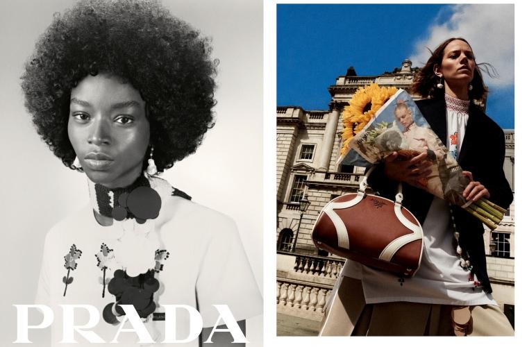 Prada Resort 2020 — рекламная кампания на упаковке для цветов