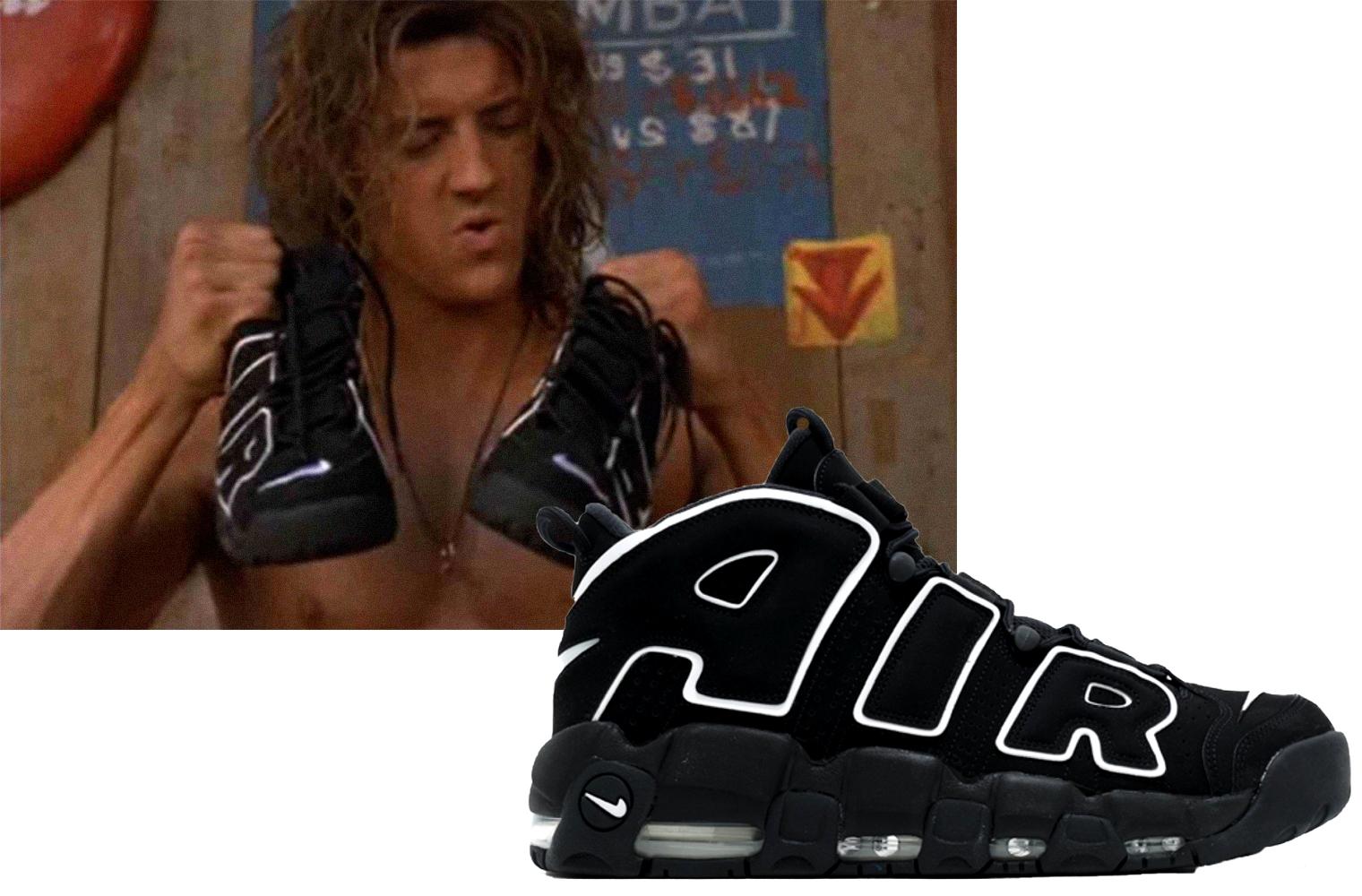 Кроссовки из фильма: Nike Air More Uptempo в «Джордж из джунглей» (1997)