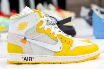 Off-White x Air Jordan 1 «Canary Yellow» - первый взгляд