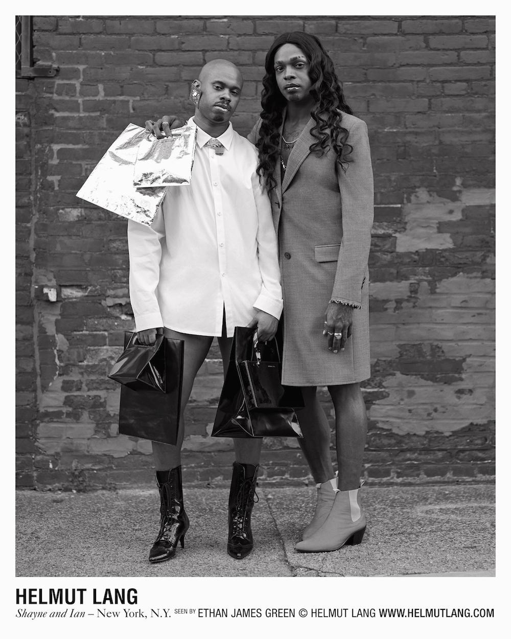 Шейн Оливер и Дев Хайнс в рекламной кампании Helmut Lang
