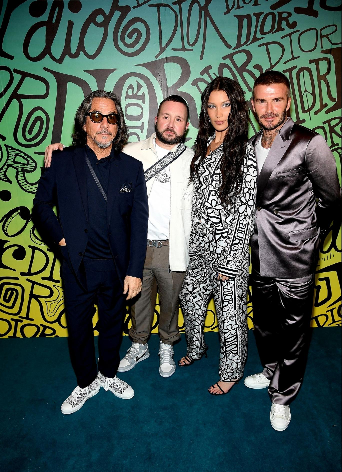 Ким Джонс и Шон Стасси, Белла Хадид и Дэвид Бекхэм на показе Dior Pre-Fall 2020 Menswear