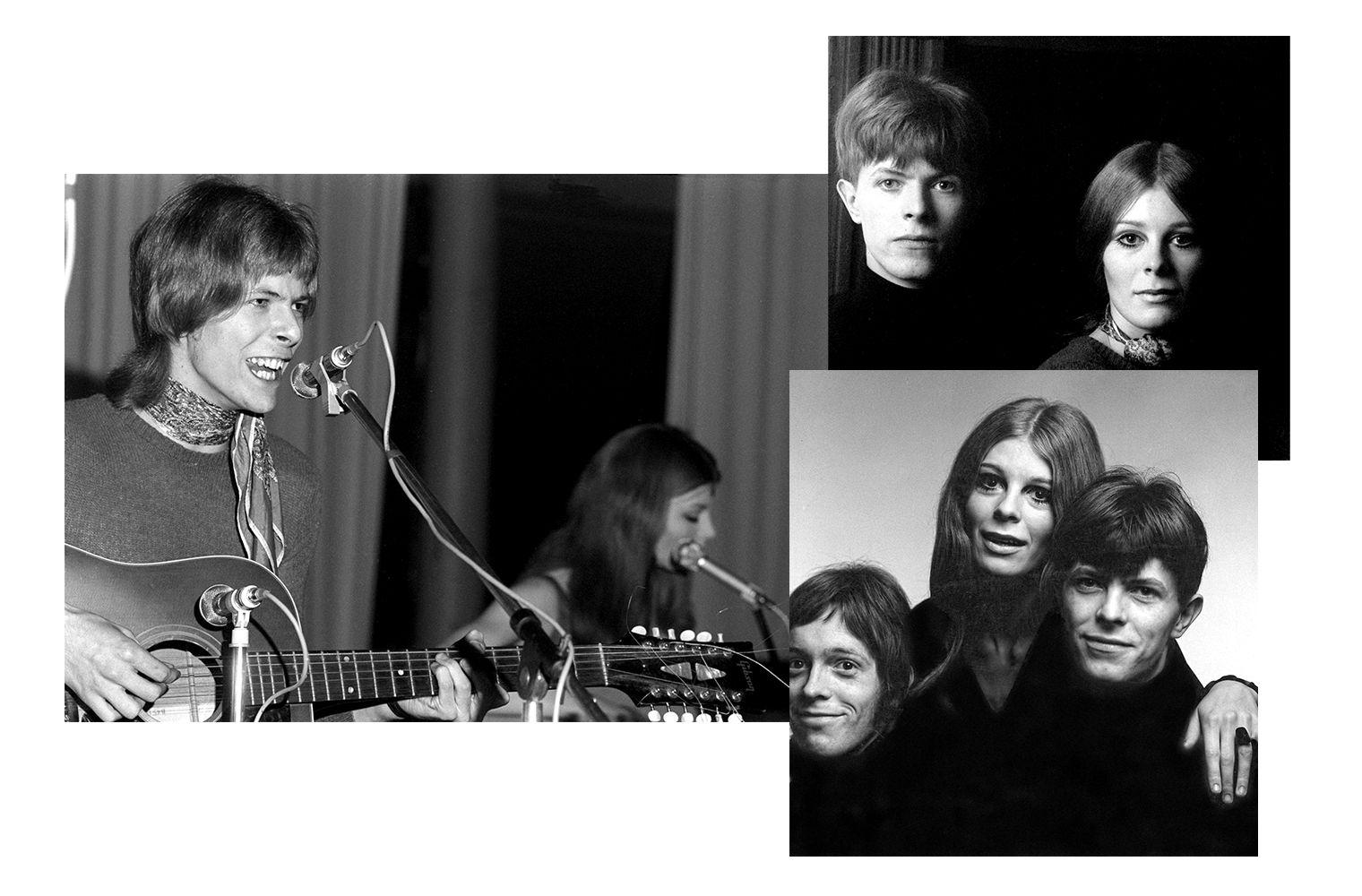 Гермиона Фартингейл организовала группу «Feathers» с Дэвидом Боуи и басистом Джоном Хатчинсоном
