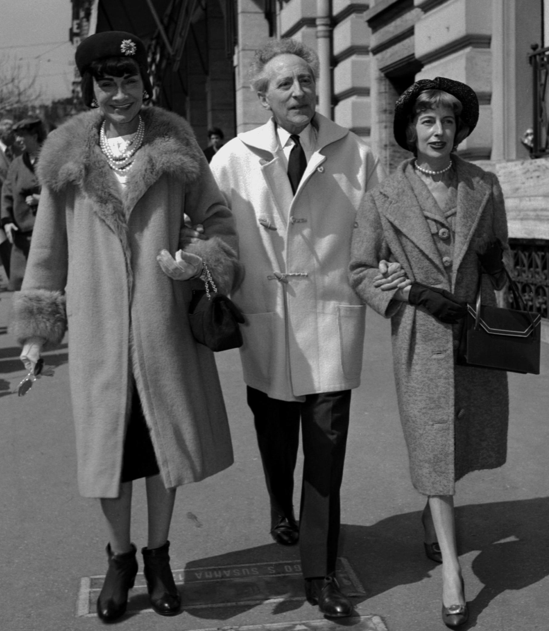 Коко Шанель и Жан Кокто в дафлкот