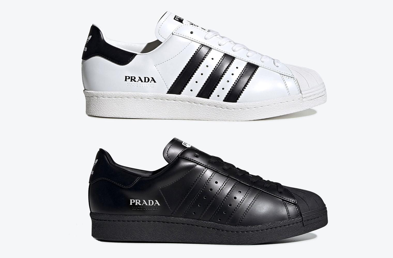 Две новые расцветки Prada x adidas Superstar
