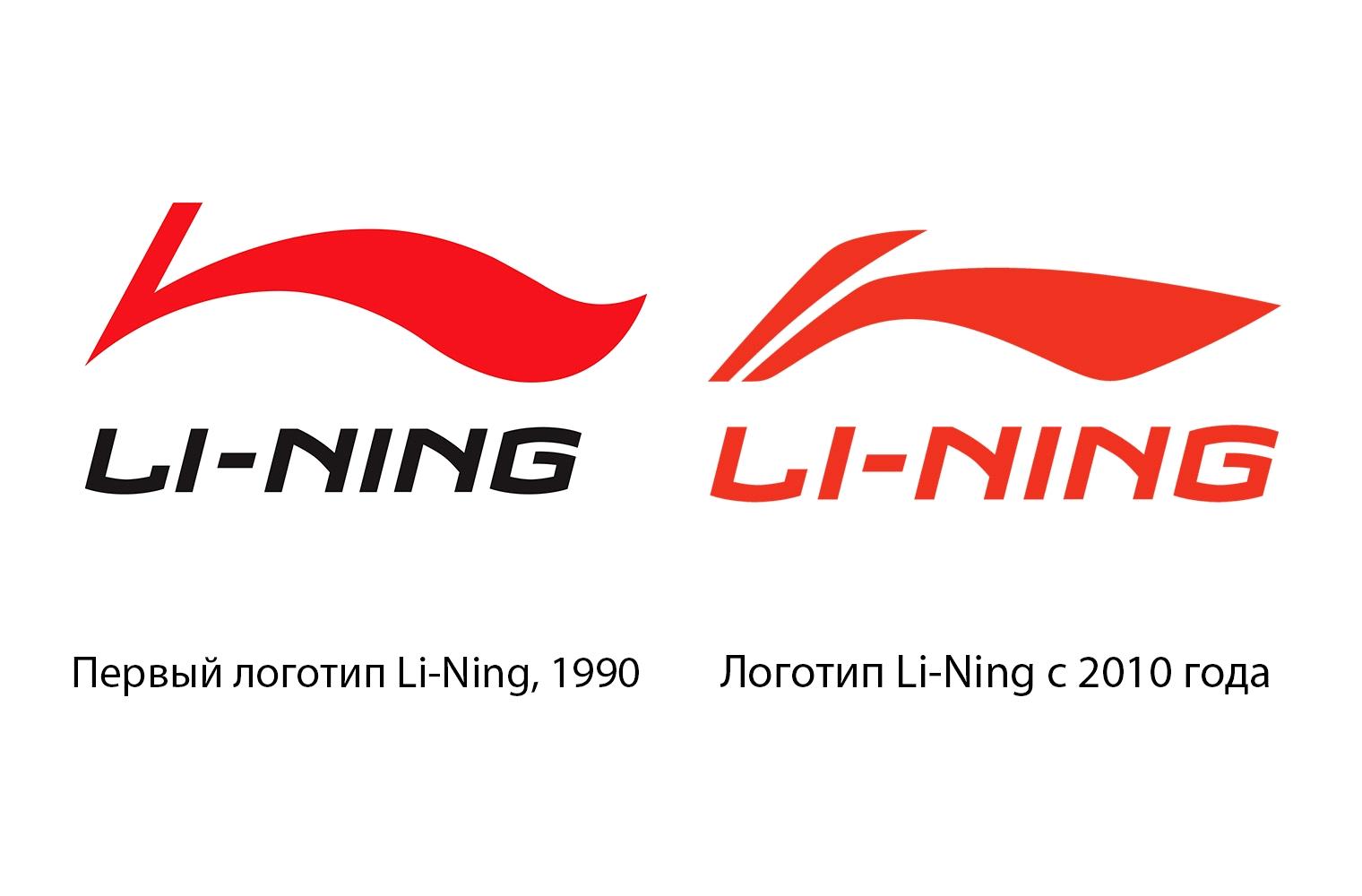 Эволюция логотипа Li-Ning