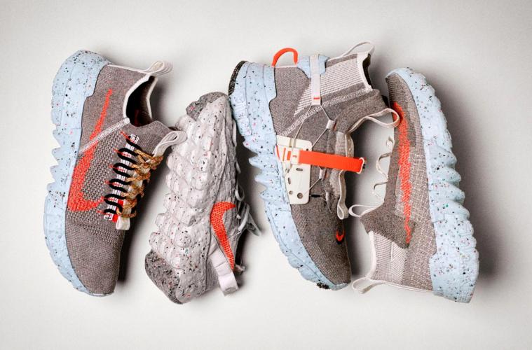 Nike представил коллекцию экологичных кроссовок «Space Hippie»