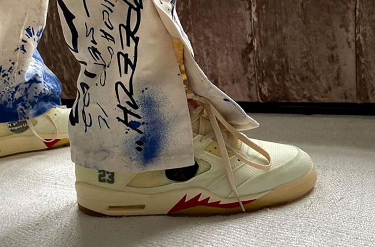 Кремовые Off-White х Nike Air Jordan 5