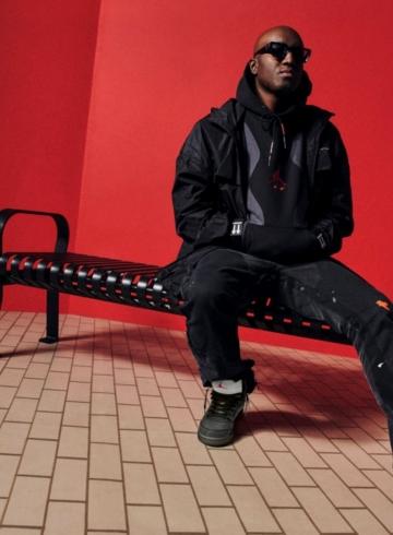 Вирджил Абло в кроссовках Off-White x Air Jordan 5