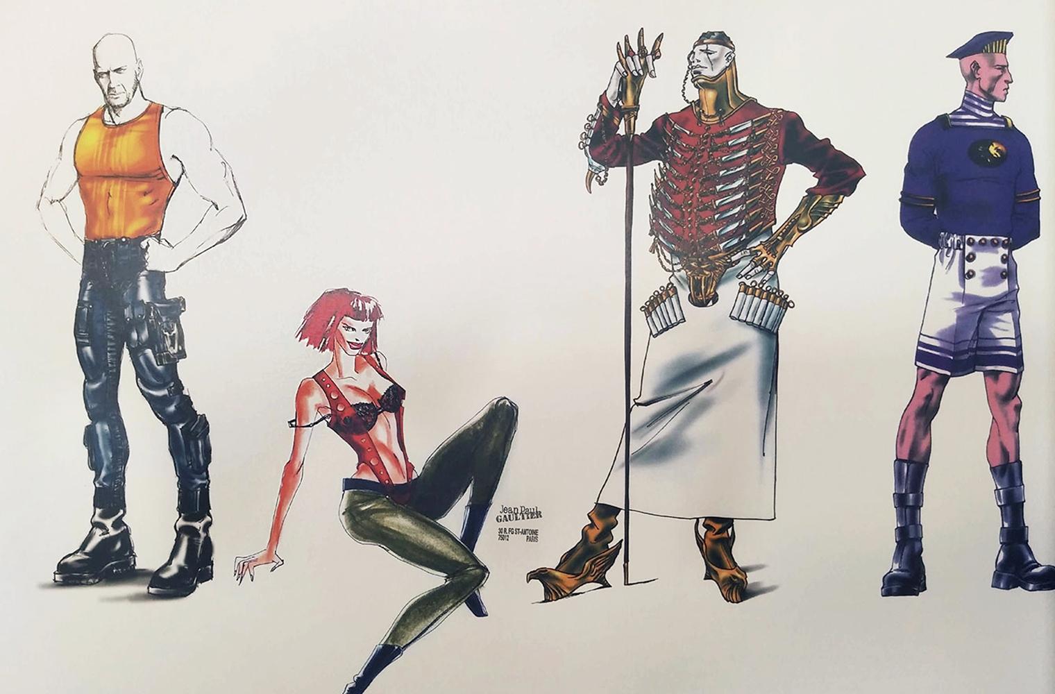 Жан-Поль Готье в роли художника по костюмам Пятый элемент