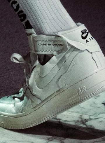 COMME des GARÇONS x Nike Air Force 1 Mid первый взгляд