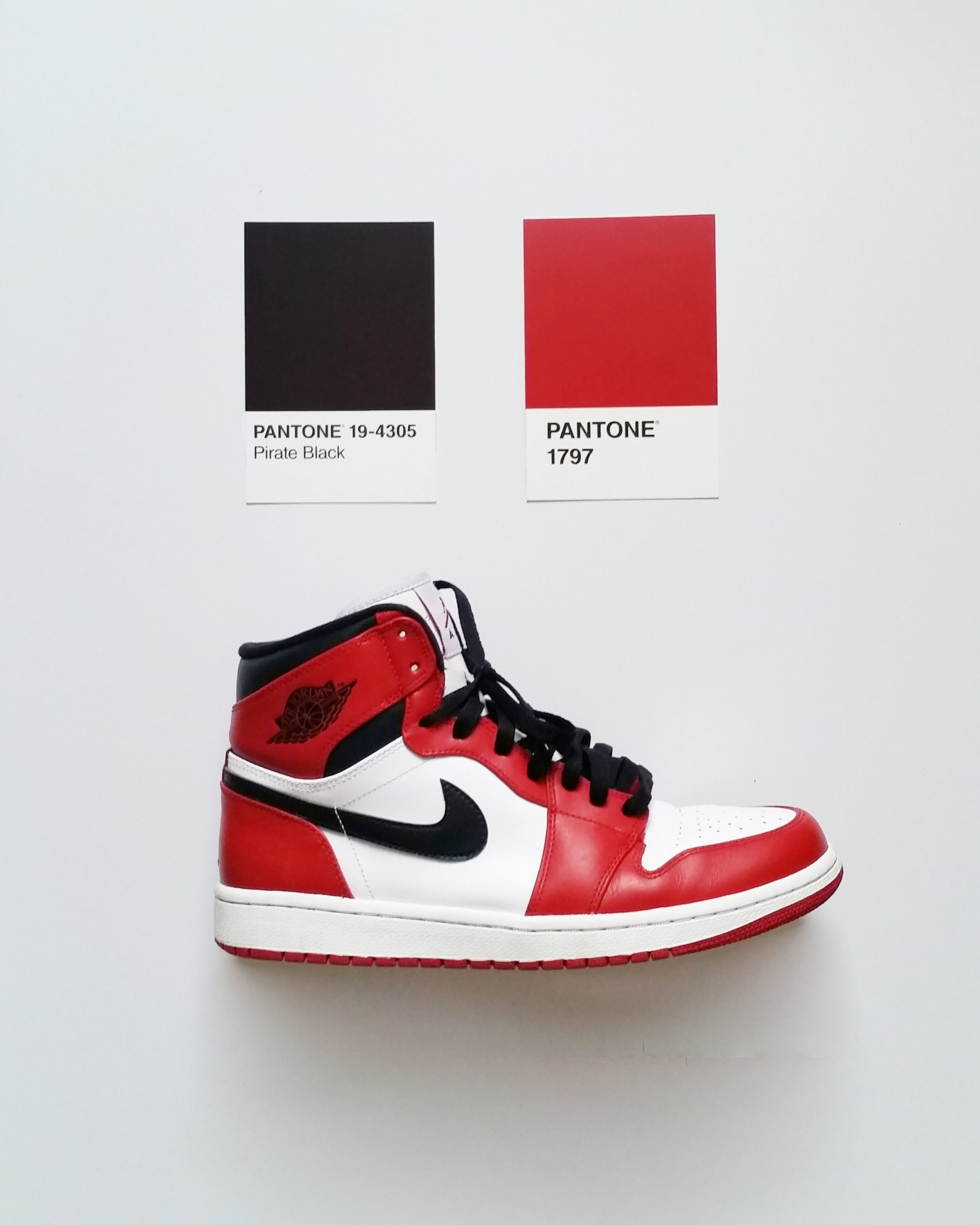 Кроссовки Jordan 1 Retro High Bred Toe — цвета pantone