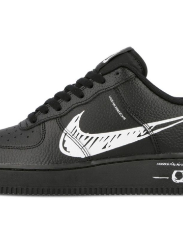 Nike Air Force 1 «Sketch» в черной расцветке - детали релиза