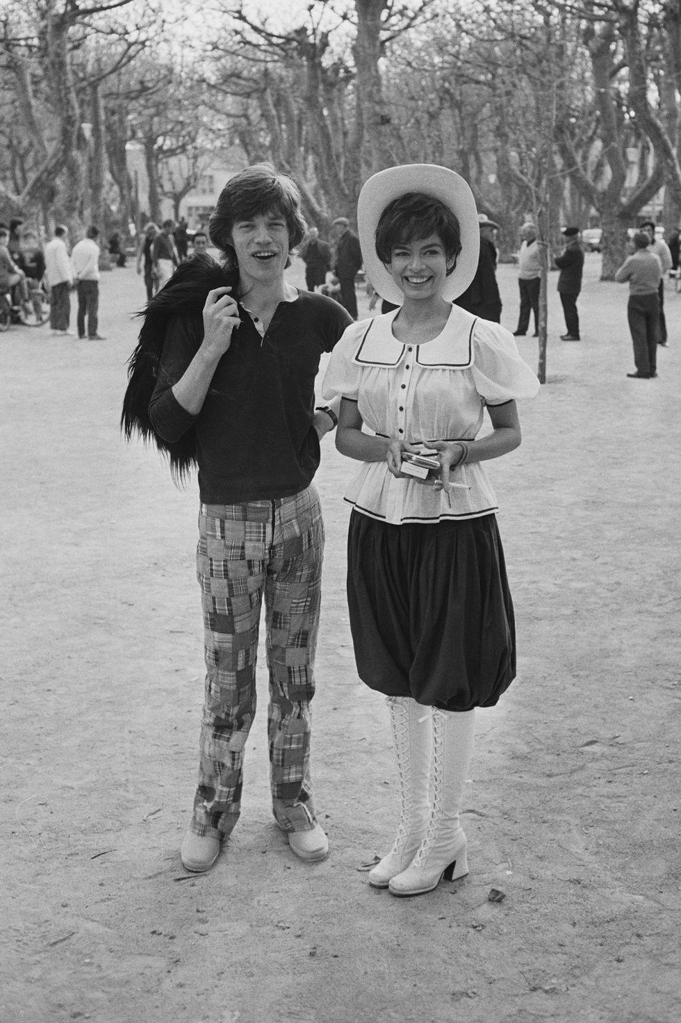 Мик и Бьянка Джаггер в Сен-Тропе, 1971