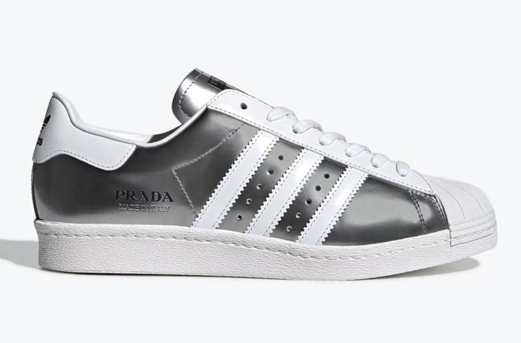 Prada x adidas Superstar «Metallic Silver» детали релиза