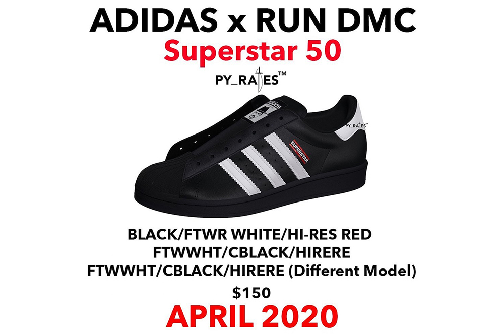 Run-D.M.C x adidas Superstar «50th Anniversary» 2020