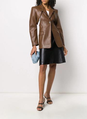 Тренды Осень-Зима 2020 кожаный пиджак Peter Do