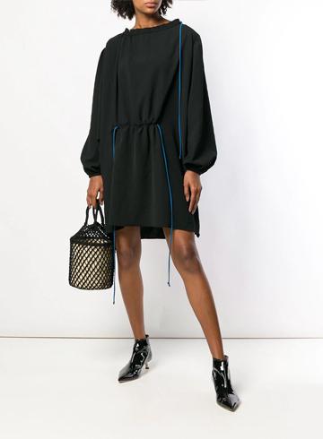 Тренды Осень-Зима 2020 Платье Loewe с объемными рукавами