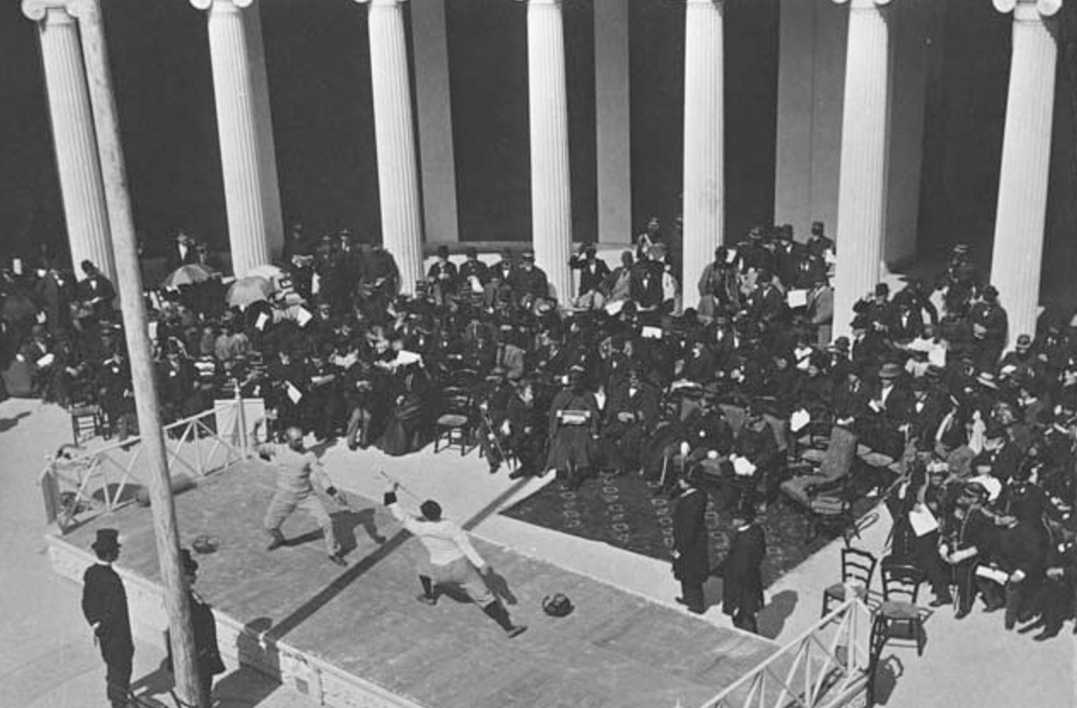 Спортивное фехтование. Первые Олимпийские игры-1896.
