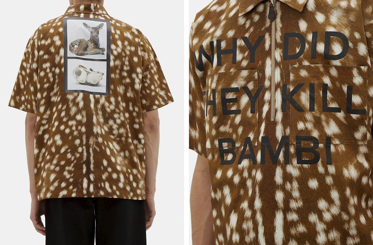 Рубашка с Бэмби из коллекции Burberry Spring/Summer 2019 Ready-to-Wear