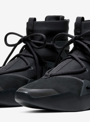 Nike Air Fear Of God 1 «Triple Black» детали релиза