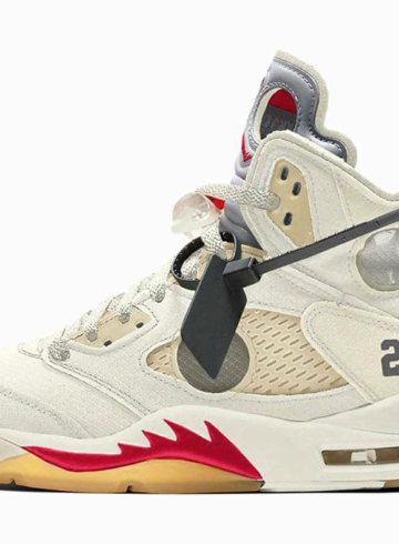 Где купить кроссовки Off-White x Nike Air Jordan 5 «Sail»