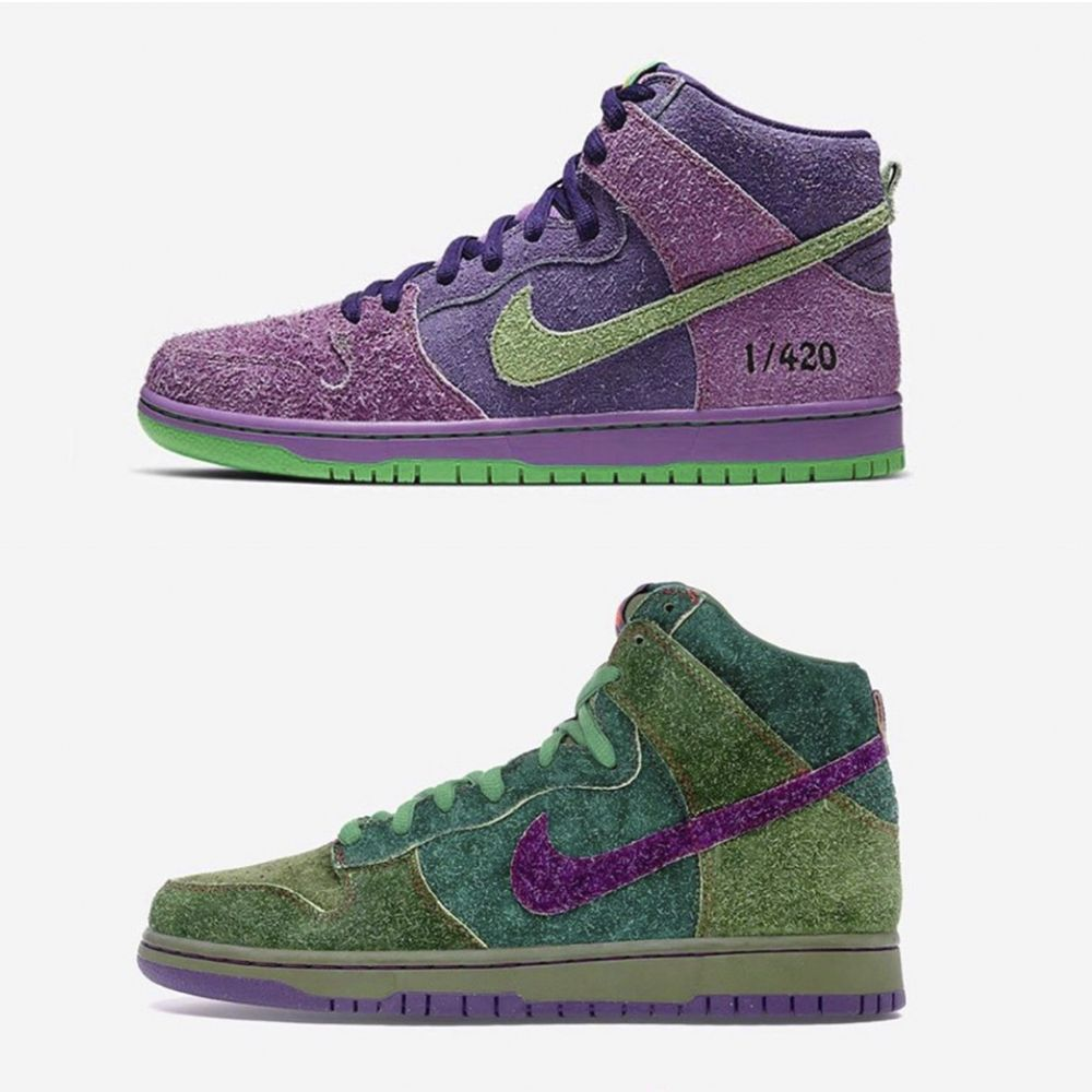 Nike SB Dunk High «420» и Nike SB Dunk High «Skunk»