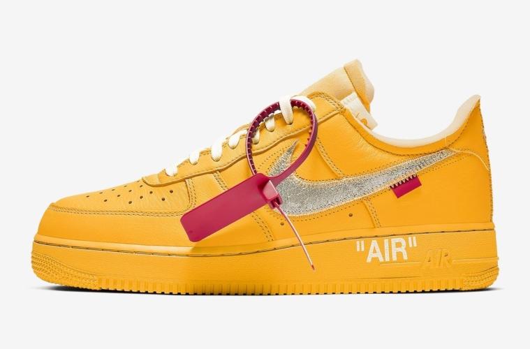 Off-White x Nike Air Force 1 «Unviersity Gold» - первый взгляд